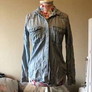 Slim Fit Chambray Top
